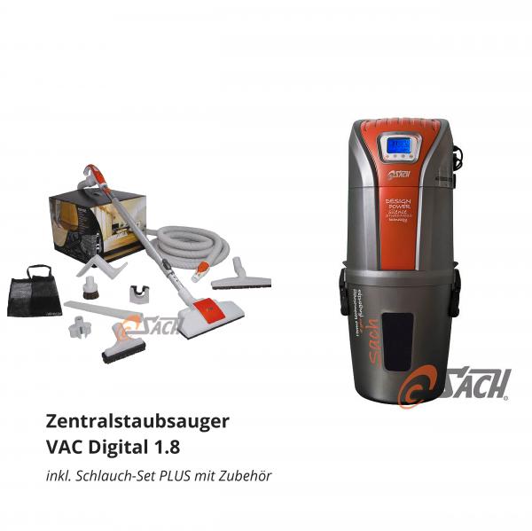 Zentralstaubsauger VAC Digital 1.8 inkl. Schlauch-Set PLUS