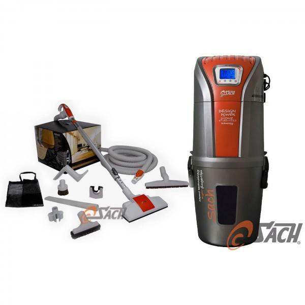 Zentralstaubsauger VAC Digital 1.6 + Schlauch-Set 8M PLUS